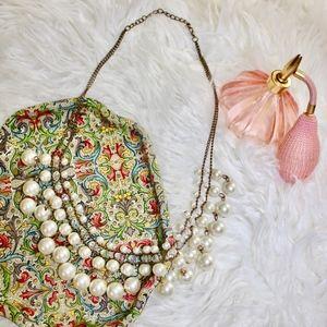 Jewelry - Big Pearl Classy Glam Statement Necklace